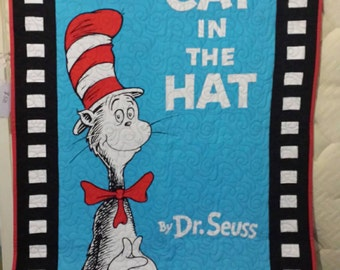 Cat in the hat - Seuss themed cot quilt