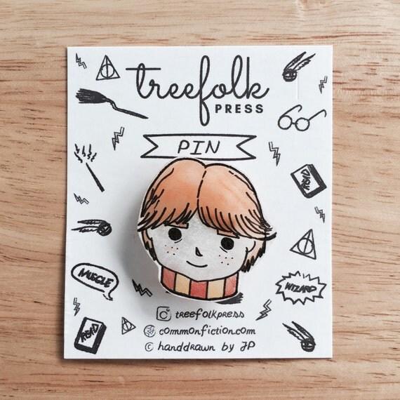 Ron Weasley Hand-drawn pin
