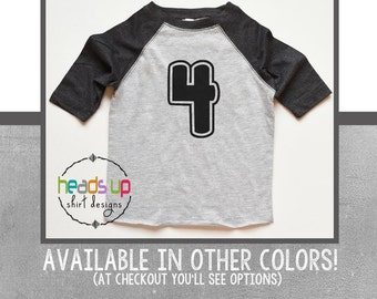 Raglan 4 Birthday Shirt Toddler - Toddler Boy/Girl 4 Birthday Shirt Raglan - Four Birthday Twins/Triplets - 4 Bday Boy/Girl Raglan -