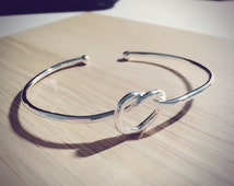 Heartless Cuff - Raw Shop - Sliver Plated - BFF - Bridal - Free Shipping