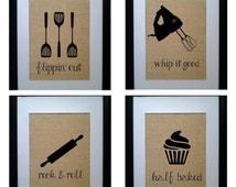 Pick 5 Kitchen Wall Decor, Kitchen Sign, Kitchen Art, Kitchen Wall Art,  Kitchen Sign Decor, Kitchen Wall Prints,  Rustic Kitchen Decor