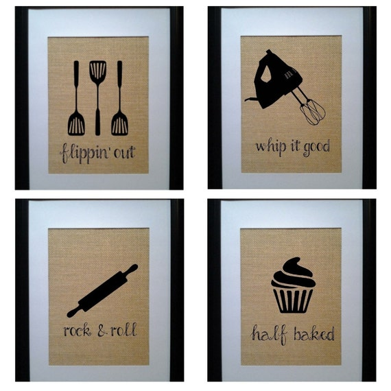 Pick 4 Kitchen Wall Decor Kitchen Sign Kitchen By Beantownburlap