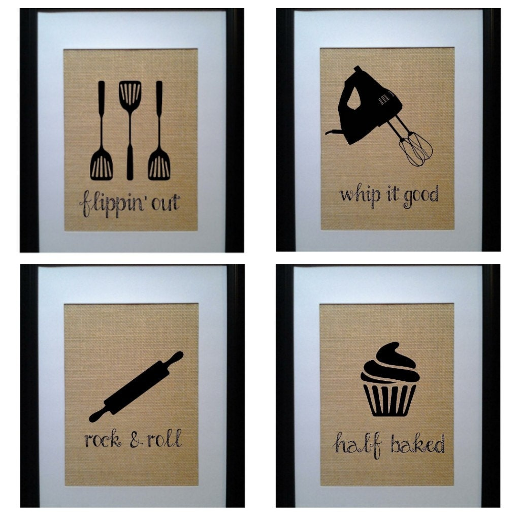 Pick 4 kitchen wall decor kitchen sign kitchen by for Kitchen wall art sets