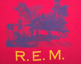 1986 R.E.M. Life's Rich Pageant Pageantry Tour T-shirt