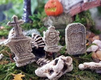 Miniature Teeny Gravestones/Headstones/Tombstones - Set of 3