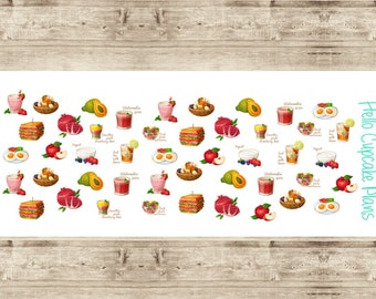 Healthy Food and Smoothies Planner Stickers