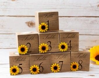 table numbers wedding Sunflower Wedding Centerpieces table Number Holders Table Number Holder Wedding Candle holder for Wedding Party Decor
