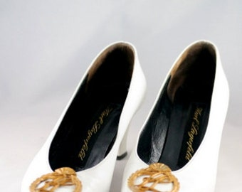 Vintage White Leather KARL LAGERFELD shoes / size