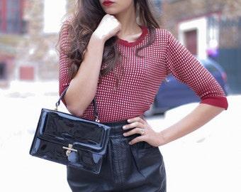 Black handbag vintage / chic