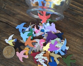 Dove Paper Die Cuts and Confetti