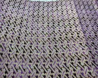 "Hoffman collection ""Kimono collection style D958. Shades of purple and gold fabric"