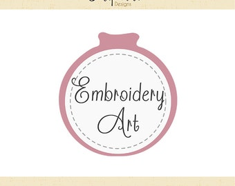 Premade Logo & Watermark // Embroidery Art // Handmade Business // Solipandi Design Studio// #008