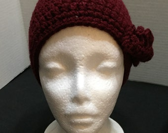Crochet Teen Hat, Crocheted Hat Teen, Gamecock Hat, Garnet Beanie, Beanie Hat