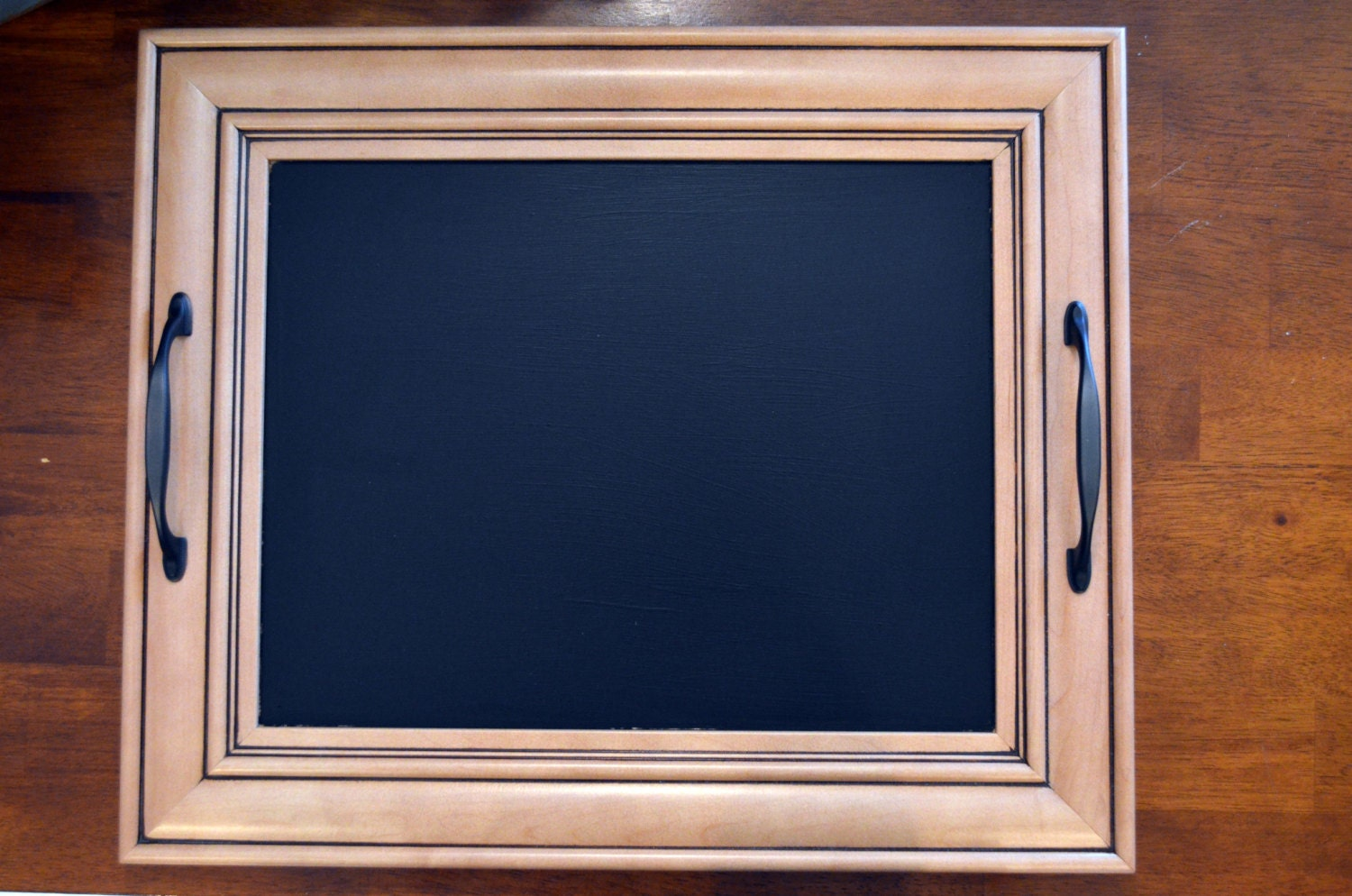 Upcycled Cabinet Door Chalkboard Serving Tray