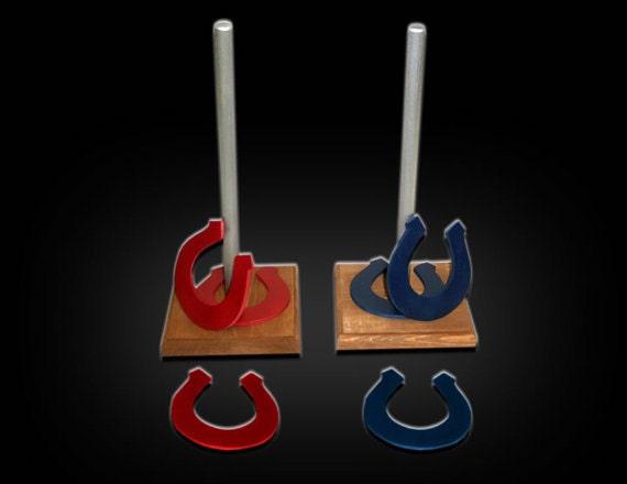 Classic children 39 s wooden horse shoe game set horse shoe for Wooden horseshoes for crafts