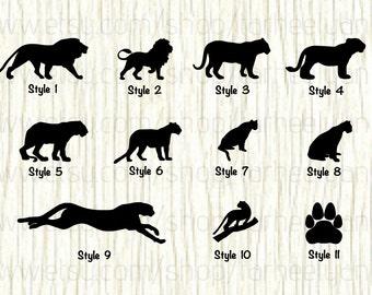 Lion Car Decal, Lion Decal, Tiger Decal, Tiger Car Decal, Panther Car Decal, Panther Decal, Cheetah Car Decal,Cheetah Decal,Cougar Car Decal