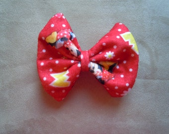 Disney Red Minnie Mouse Hair Bow. Size Medium