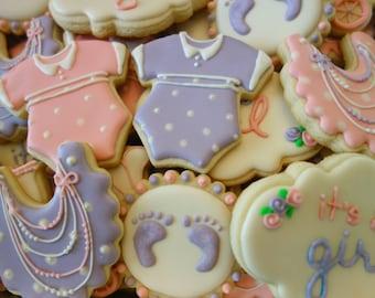 Feminine Baby Shower Cookies