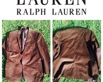 Ralph Lauren Brown Corduroy Jacket - 44R