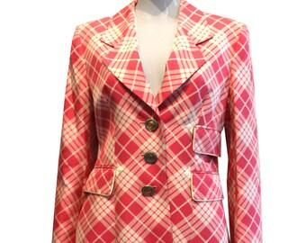 Authentic pink check Dior blazer