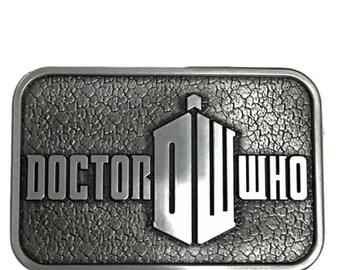 Dr who DW Logo Metal Enamel BELT BUCKLE