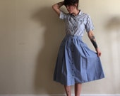 SALE: Vintage 80s Russ Petites Two-Piece Catalina Vacation Dress