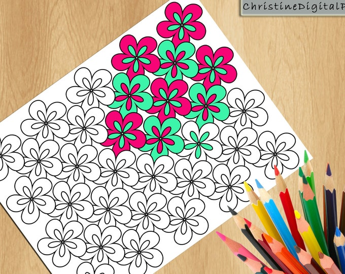Coloriage, Antistress Coloring, Adult Coloring Pages, Kids Coloring, Flower Color In, Color Therapy Pages, Color Book Page