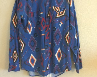Vintage Native Print long sleeve