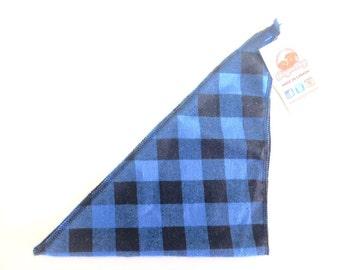 Dog Bandana - Blue Plaid