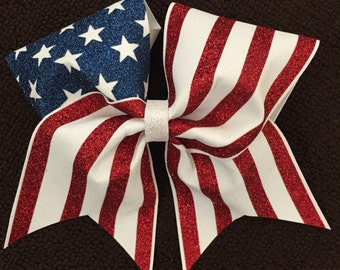 American flag bow (free shipping)
