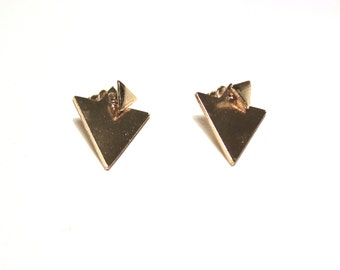 Simple double triangle earrings