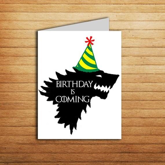 Printable Gamer Birthday Cards Boyfriend Game Of Thrones Card By