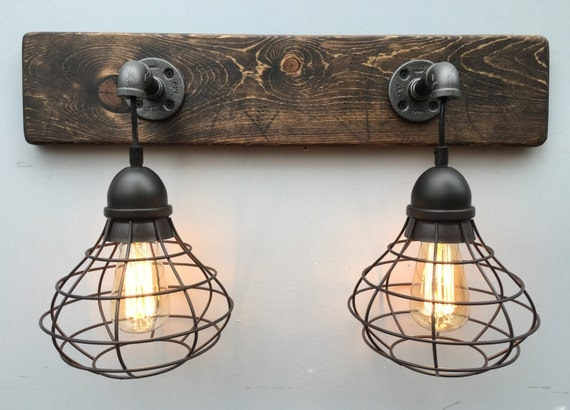 Rustic Industrial Modern Mason Jar Lights Vanity Light: Vanity Light Fixture Light Fixture With Shade Pendant Light