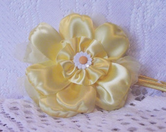 Yellow Hair flower headband