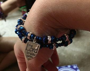 Beaded Memory wire bracelet