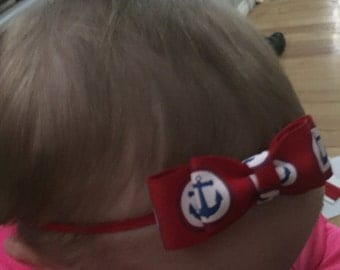 Anchor bow with headband or clip