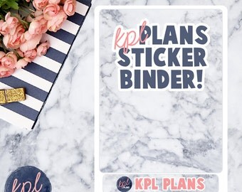 Marble KPL Plans Sticker for Mini Binders