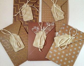Gift Card Holder // Mini Envelops // Gift Card Envelops // Note Envelops // Set of 5