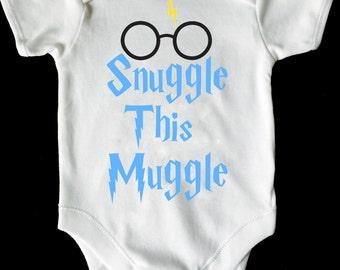 snuggle this muggle baby vest/romper/bodysuit harry potter