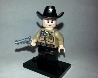 The Walking Dead Rick Grimes Custom Lego Minifigure