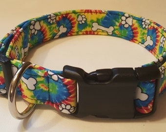 Tie-dye Dog Collar
