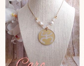 Collar Sol Taino. Collar Coqui Taino. Collar en hilo anudado. Acrylic Charm Puerto Rico charms.