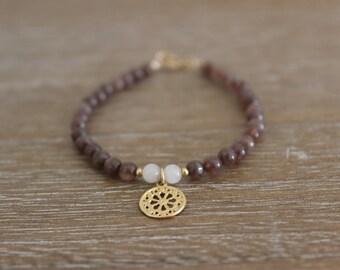 Brown jade mandala