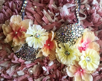 Flower rave bra