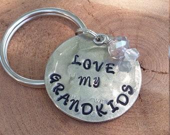 Love my Grandkids custom keychain