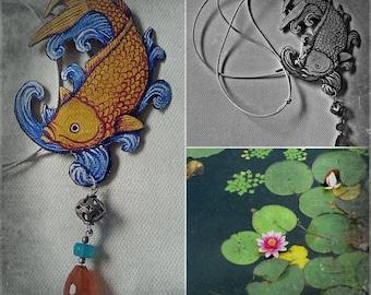 Koi Carp, Koi Carp/necklace unique model Necklace, unique model