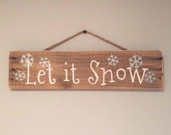 Let it snow, let it snow, let it snow winter wall hanging winter decor holiday wall hanging.