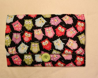 Owls - Hand-crafted Travel Changing Pad  – Many Designs Available