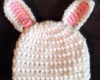 Hand Crochet Easter Bunny Hat