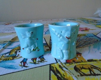 1950's egg cups x 2